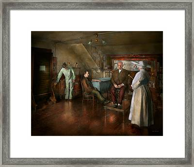 Doctor - Old Fashioned Influence - 1905-45 Framed Print by Mike Savad