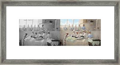 Doctor - Operation Theatre 1905 - Side By Side Framed Print by Mike Savad