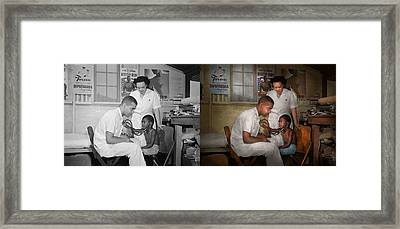 Doctor - Pediatrician - From The Heart 1942 Side By Side Framed Print by Mike Savad