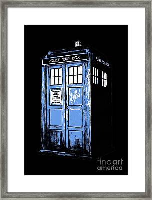 Doctor Who Tardis Framed Print by Edward Fielding