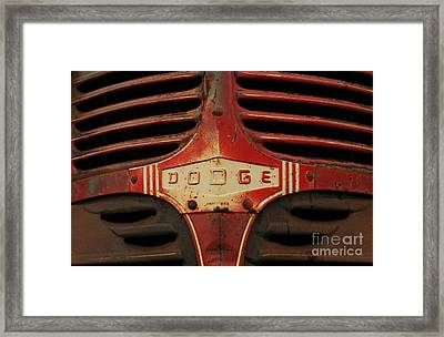 Dodge 41 Grill Framed Print by Steve Augustin