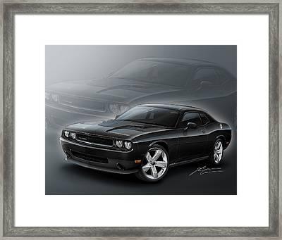 Dodge Challenger 2013 Framed Print by Etienne Carignan
