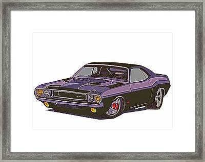 Dodge Challenger Custom Framed Print by Jay Pumphrey Jr