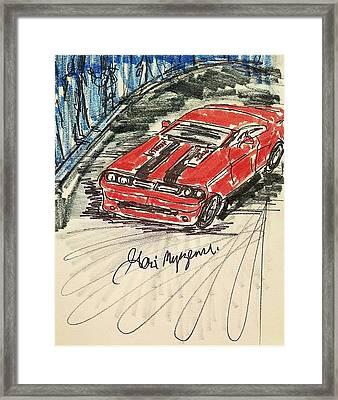 Dodge Challenger Framed Print by Geraldine Myszenski