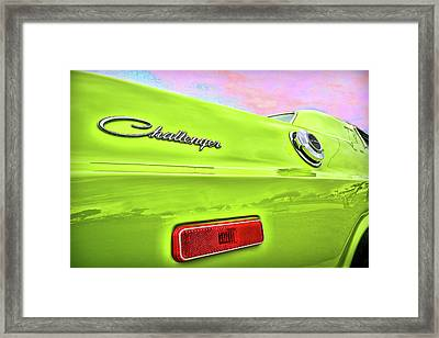 Dodge Challenger In Sublime Green Framed Print by Gordon Dean II