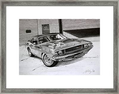 Dodge Challenger Rt 1970 Framed Print by Miro Porochnavy