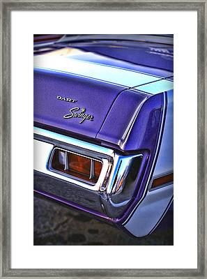 Dodge Dart Swinger Framed Print by Gordon Dean II