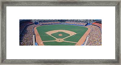 Dodger Stadium, Dodgers V. Astros, Los Framed Print by Panoramic Images