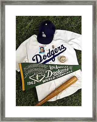 Dodgers Sweep Yankees Framed Print by Ron Regalado
