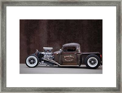 Dodgey Pete's Framed Print by Bill Dutting