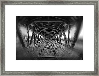 Dodging Trams In Warsaw Poland Framed Print by Carol Japp