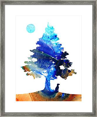 Dog Art - Contemplation - By Sharon Cummings Framed Print by Sharon Cummings