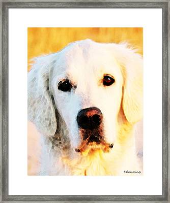 Dog Art - Golden Moments Framed Print by Sharon Cummings