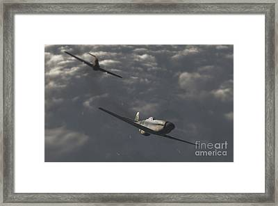Dog Fight Framed Print by Richard Rizzo