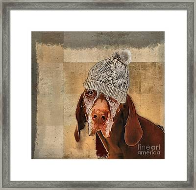 Dog Personalities - 442 Framed Print by Variance Collections