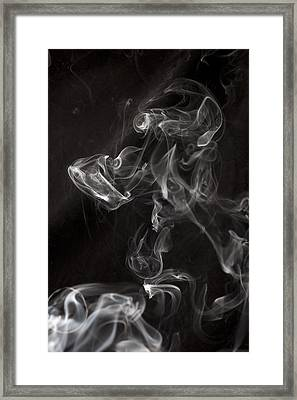 Dog Smoke Framed Print by Garry Gay