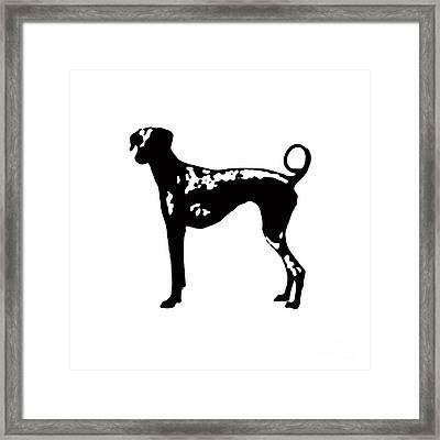 Dog Tee Framed Print by Edward Fielding