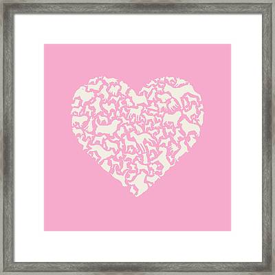 Dog Valentine Framed Print by Mitch Frey