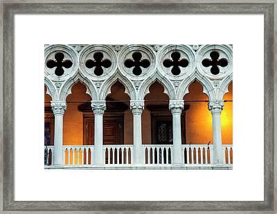 Doges Palace Up Close Framed Print by Andrew Soundarajan