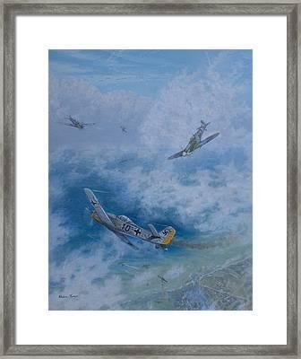 Dogfight Over Dieppe 19 August 1942 Framed Print by Elaine Jones