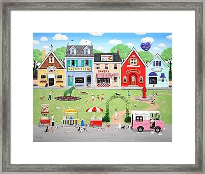 Doggie Heaven Framed Print by Wilfrido Limvalencia