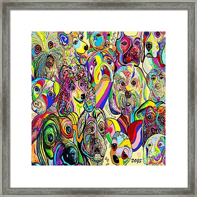 Dogs ... Dogs ... Dogs Framed Print by Eloise Schneider
