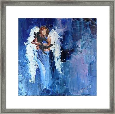 Dogs Need Angels Framed Print by Judy Mackey