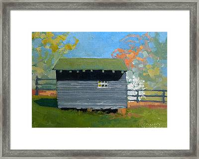 Dogwood Farm Shed Framed Print by Catherine Twomey