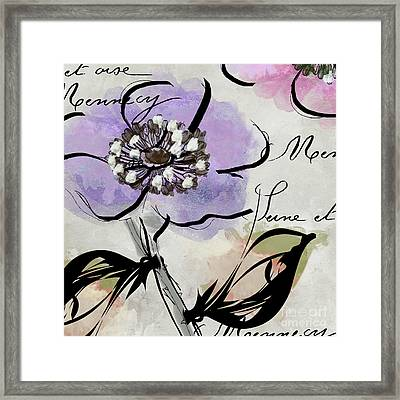 Dogwood II Framed Print by Mindy Sommers