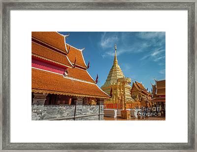 Doi Suthep Temple Framed Print by Adrian Evans