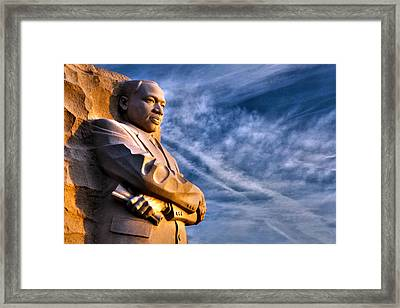 Doing For Others Framed Print by Mitch Cat