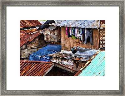 Doing The Laundry Framed Print by James BO  Insogna