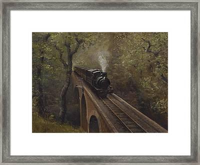Dolgoch Viaduct Framed Print by Richard Picton