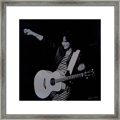 Dolores O'riordan Of The Cranberries Framed Print by Kristin Wetzel