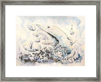 Dolphin Framed Print by Dave Martsolf