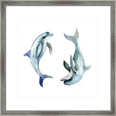 Dolphins Framed Print by Suren Nersisyan