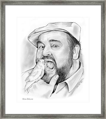 Dom Deluise Framed Print by Greg Joens
