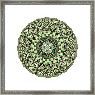 Dome Of Chains Mandala By Kaye Menner Framed Print by Kaye Menner