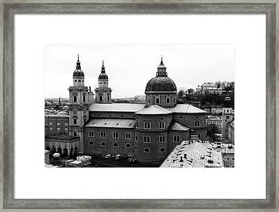 Domes Of Salzburg  Framed Print by John Rizzuto