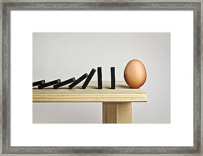 Domino Effect Framed Print by Mister Solo