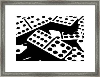 Dominoes Iv Framed Print by Tom Mc Nemar