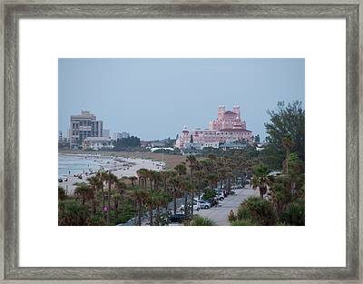Don Cesar Hotel St Pete Beach Florida Framed Print by John Black