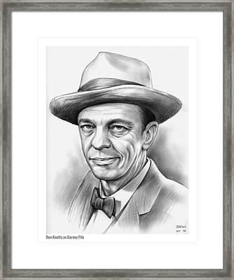 Don Knotts Framed Print by Greg Joens