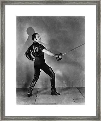 Don Q Son Of Zorro, Douglas Framed Print by Everett