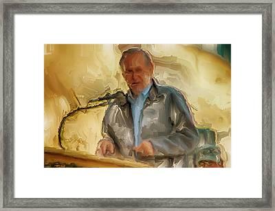Donald Rumsfeld Framed Print by Brian Reaves