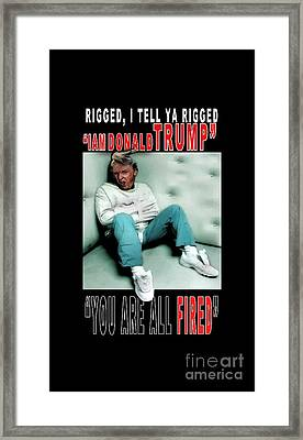 Donald Trump The Day After Framed Print by Reggie Duffie