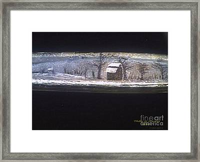 Donee Tobacco Barn In Winter  Framed Print by Phillip H George