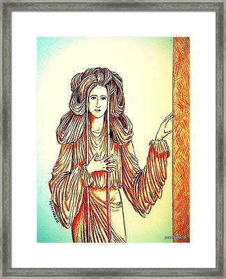Donna Angelicata Framed Print by Paulo Zerbato