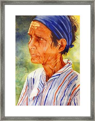 Donna Maria Framed Print by Estela Robles