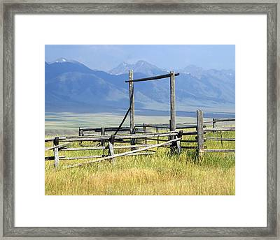 Don't Fence Me In Framed Print by Marty Koch